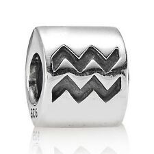 Genuine Pandora Charm Sterling Silver Star Sign Zodiac AQUARIUS 790142