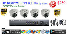 HD TVI 4CH DVR LTS LTD8304T-FT + 4x Sony Exmor 2MP Dome Cameras HDTVI 1080P NEW