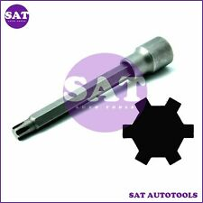 "VW AUDI 1/2""Dr x M10 Cylinder Head Bolt Ribe/Polydrive Socket Engine 100mm Long"