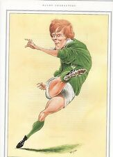 OLLIE CAMPBELL rugby caricature print by John Ireland measures 19cm x 27cm