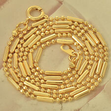 52cm*2mm 9K Solid Gold Filled Mens/Womens Chain Necklace F4587