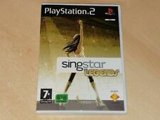 Singstar Legends PS2 Playstation 2 PAL REINO UNIDO