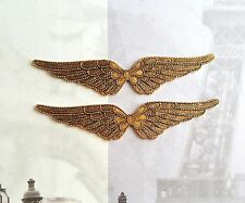 Small Matte Gold Ox Wings (2) - GOFF2528 Jewelry Finding