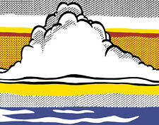 Lichtenstein Roy Cloud And Sea Canvas 16 x 20    #4736