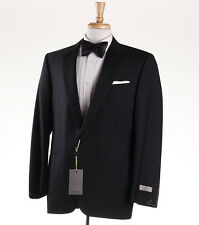 NWT $2095 CANALI 1934 Solid Black Modern-Fit Wool Tuxedo 38 R (Eu 48) Suit