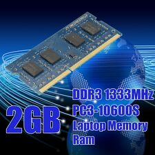 2GB DDR3 SDRAM 1333MHz PC3-10600S SODIMM 204 Pins CL9 Non-ECC Laptop Memory RAM