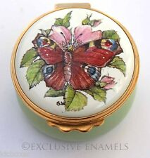 Kingsley Enamels Peacock Butterfly Enamel Box