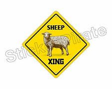 "*Aluminum* Sheep Crossing Funny Metal Novelty Sign 12""x12"""