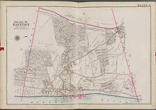 1911 WESTCHESTER HASTINGS NY CROTON AQUEDUCT G.W. BROMLEY COPY ATLAS MAP