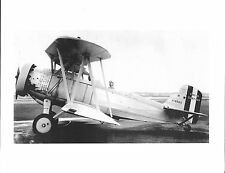 "WWII CURTISS F8C-5 U.S. NAVY BIPLANE A-8589  5"" x 7"" B&W Photograph"