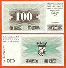 P13  Bosnien Bosnia Herzegovina   100  Dinara  1992  UNC