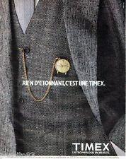 PUBLICITE ADVERTISING 056  1983    la montre homme Timex