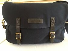 NWT BROOKS BROTHERS MESSANGER/LAPTOP BAG NAVY CANVAS  $99.50