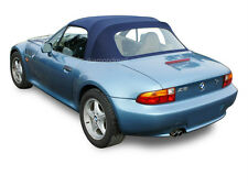 BMW Z3 1996-2002 Convertible Soft Top with Plastic Window Blue Stayfast Cloth