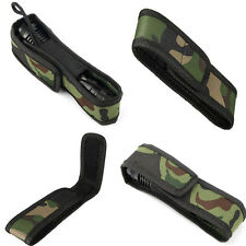 Flashlight Torch Lamp Oilproof Camouflage Holster Case Bag Pouch Protector SMS