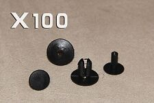 100 PCS 8MM MG GREY Clips Rivets- Interior Trim Panels, Carpet&Linings