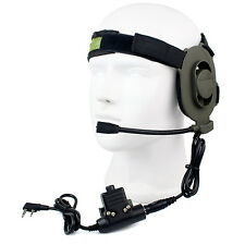 New Z Tactical Bowman Elite II U94 Style 2-Pin PTT Headset Fit For Kenwood Radio