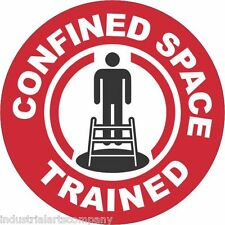 """CONFINED SPACE TRAINED 2"""" Hard Hat Sticker OSHA Safety Decal FREE SHIPPING"""