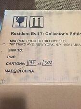 PS4 Resident Evil 7 Biohazard Collector's Edition New (1185 / 1500) U.S. Version