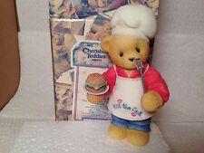 CHERISHED TEDDIES Chef Dennis w/ Hamburger # 510963 NIB Bear ENESCO FIGURINE