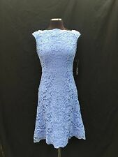 CHETTA B DRESS/NEW WITH TAG/RETAIL$169/SIZE 12/LAVENDER/LACE DRESS/LENGTH 38