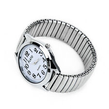 Big Numbers Stainless Steel Mens Lady Wrist Watch 1.4""