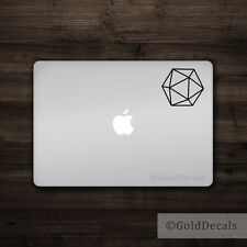 20 Sided Dice - Vinyl Decal Mac Apple Logo Laptop Sticker Macbook Decal D&D RPG