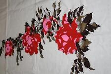 Vintage Hawaiian Hand Printed Alfred Shaheen  Floral Fabric Panel