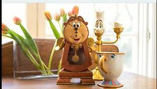 Disney Parks Beauty and the Beast Cogsworth Clock & Lumiere Light Up & CHIP Mug