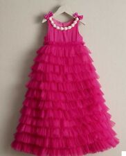 Chasing Fireflies Girls Ruffle Dress Hot Pink Size 12