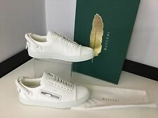 Buscemi Ladies Low Top Trainers, Uk 5 Eu38 White Leather, RRP £625, New Shoes