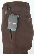 NEWT$AUTH VERSACE SPORT BEAUTIFUL MOLESKIN BROWN PANTS COTTON 31 IT 46