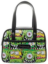 Sourpuss Fink Faces Mini Bowler Purse NEW Tattoo Ratfink Monster Horror Bright