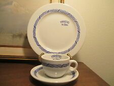 PIONEERS OF ALASKA mayer china plate cup pacific antique art restaurant ware vtg