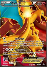 Pokemon Karte Glurak EX, Full Art, Flammenmeer, 100/106