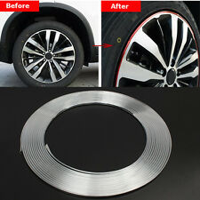 New 15M Chrome Moulding Trim Strip Car Door Edge Scratch Guard Protector Cover