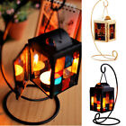 Retro Iron Moroccan Style Candlestick Candle Holder Christmas Home Decoration