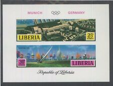 LIBERIA SOUVENIR SHEET #C187 MNH, Imperf - Olympic Games Munich Germany - FOS110