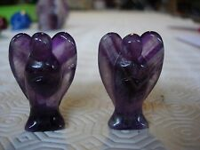 angel carving chevron amethyst ca2 matching pair
