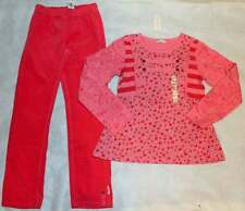 NWT Naartjie Raindrop Stripe Pink Top Shirt Stretch Corduroy Legging Pant 9 Yrs
