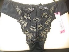 Ladies Black Satin embroidered front Briefs, size M 10-12 by Daniel Axel