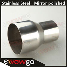 """2.75""""  TO 3"""" INCH WELDABLE TURBO/EXHAUST STAINLESS STEEL REDUCER ADAPTER PIPE"""