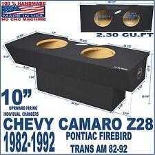 """1982-92 CHEVY CAMARO SUB BOX Z28 10"""" PONTIAC FIREBIRD SUBWOOFER ENCLOSURE"""