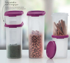 Tupperware Modular Mates Ovals & Rounds 5pc Set Purple Seals Organize Pantry New