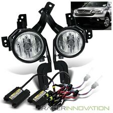 *6000K White HID* For 07-09 Honda CRV Clear Fog Lights Driving Lamps w/ Switch