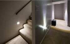 STAIR LIGHTING White 6 LED Stair Light AUTOMATIC MOTION SENSOR 1 Unit Dad Gift