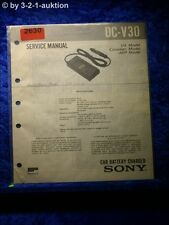 Sony Service Manual DC V30 Car Battery Charger (#2630)