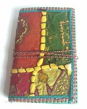 Recycled Paper Cotton Patchwork Sare Notebook Journal Diary Buddha Sanskrit