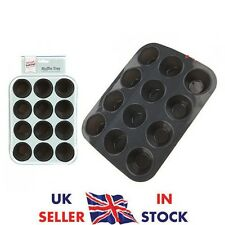 12 Mini Muffin Cup Silicone Cookies Cupcake Bakeware  Pan Kitchen BunTray Mould