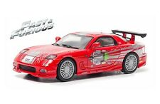 1993 MAZDA RX-7 FAST & FURIOUS DOM'S 1/43 DIE CAST RED BY GREENLIGHT 86204